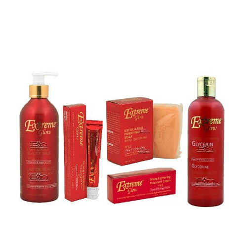 Buy EXTREME GLOW Super Set (Creme, Gel, Soap, Beauty Milk, and Rose Water)