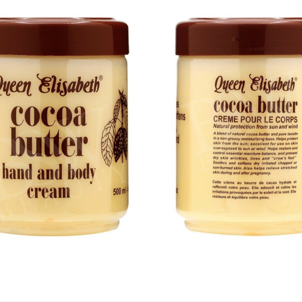 Buy Cocoa Butter Hand and Body Cream 500ml (Made in Cote D'ivoire) (set of 2) by Queen Elisabeth