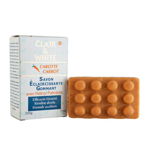 Clair White Lightening Exfoliating Soap with Carrot Extracts and Retinyl Palmitate