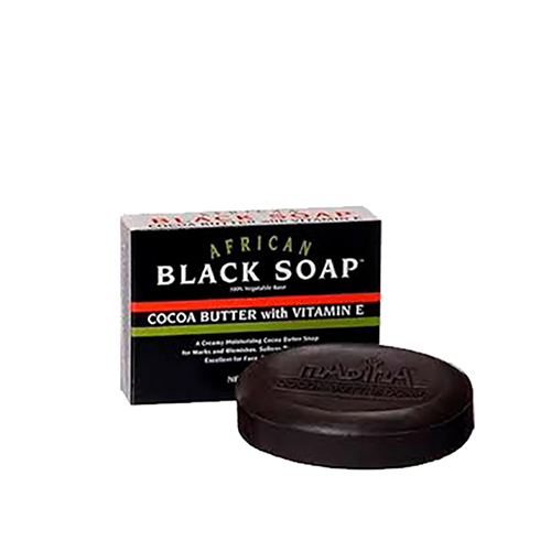 Buy African Formula Black Soap Box 3.5oz With Cocoa Butter & Vitamin-E