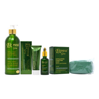 Buy Express Glow Package II (Lotion 16.8oz + Soap 7oz + Cream 1.7oz + Serum 1.66oz)