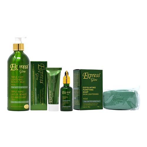 Buy Express Glow Package II (Lotion 16.8oz + Soap 7oz + Cream 1.7oz + Serum 1.66oz)