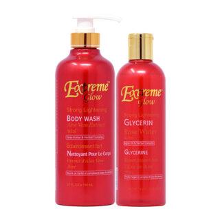 Extreme Glow Bottle Package-2 (Body Wash 27oz + Glycerin 16.8oz)