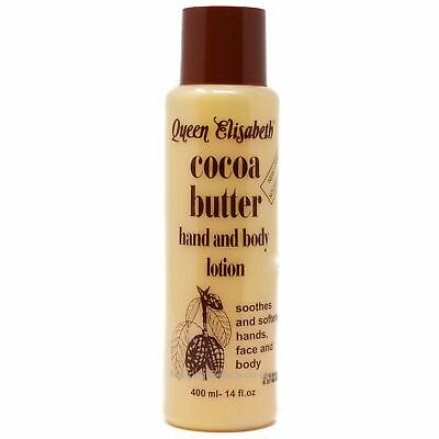 Queen Elizabeth Cocoa Butter Hand & Body Cream Plus Cocoa Butter Lotion (2 Products 1 Price) 400 Milliliters