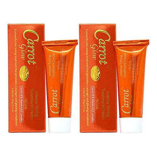 Carrot Glow Intense Toning Treatment Cream 1.7 oz (Pack of 2)
