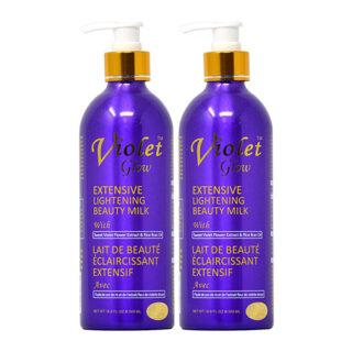 buy Violet Glow Extensive Lightening Beauty Milk 16.8oz (Pack of 2)