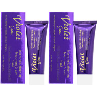 Buy Violet Glow Extensive Lightening Treatment Cream (Pack of 2) || OBS