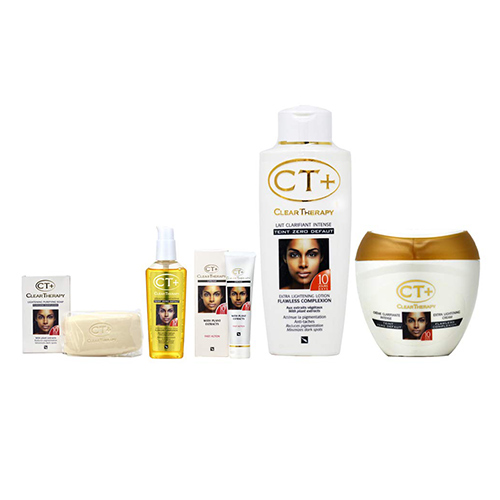 "Buy Clear Therapy + Lightening Soap, Cream, Lotion, Serum and Tube Cream""Big"" Set"