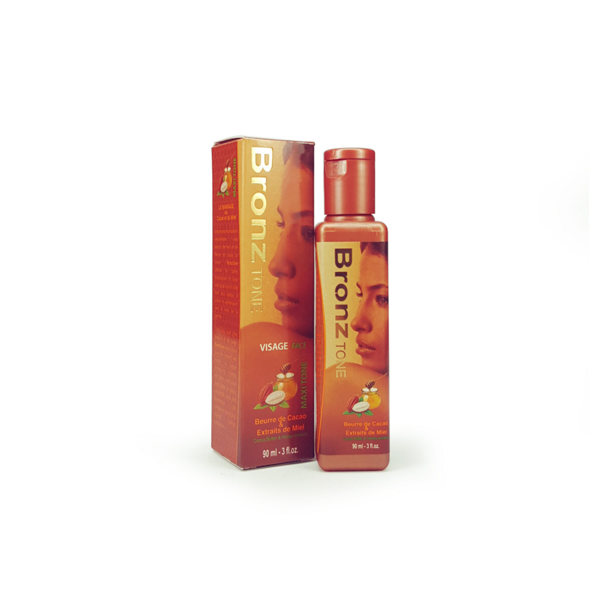 BronzTone Serum 3fl.oz/90ml with Cocoa Butter & Honey Extracts.