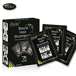 Buy Instant Hair Dye - Black Hair Shampoo - (3) Black Color - Simple to Use - Last 30 days - Natural Ingredients!