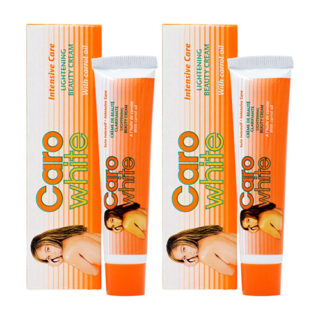 Caro White Lightening Beauty Cream with carrot oil 1oz (Pack of 2)