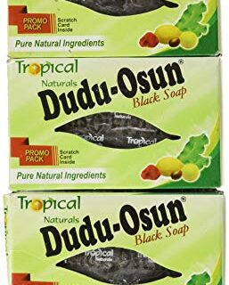3 Pack Tropical Naturals Dudu-Osun Black Soap Pure Natural Ingredients 5 Oz. US Ship