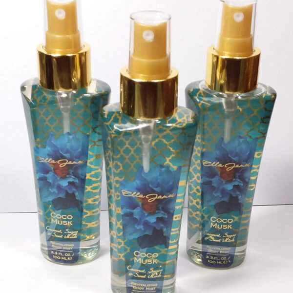 3x Ella James Coco Musk Coconut,Sugar & Sweet Musk Body Mist