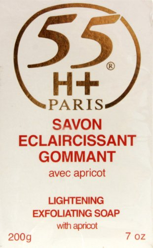 Buy 55H+ Eclaircissant Lightening Exfoliating Soap with Apricot 7 oz. (Pack of 2)