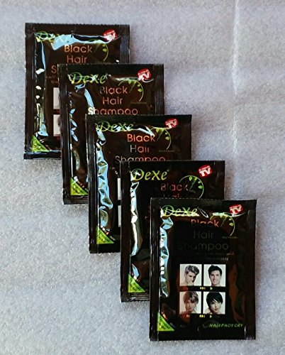 5pcslot-Dexe-Instant-Hair-Dye-Black-Hair-ShampooOnly-5-Minutes-Easy-to-Use