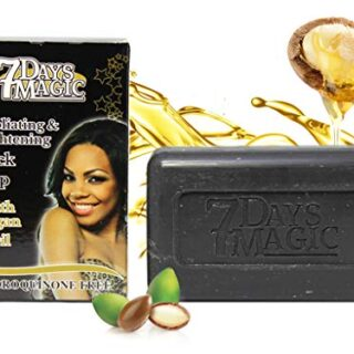 7 DAYS MAGIC EXFOLIATING & BRIGHTENING BLACK SOAP 7OZ/200GR
