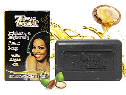 7 DAYS MAGIC EXFOLIATING & BRIGHTENING BLACK SOAP 7OZ/200GR