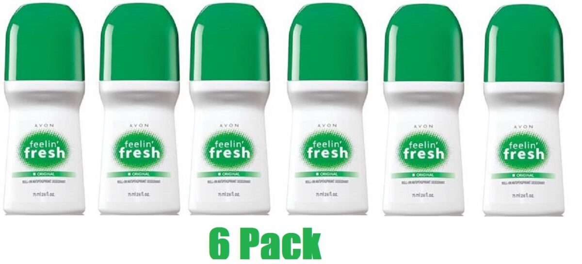 Avon-Feelin-Fresh-Original-Roll-On-Antipirspirant-Deodorant-26-floz_-Lot-6-pcs-