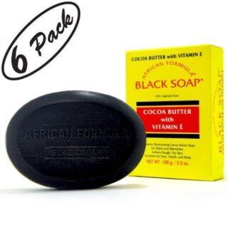 BLACK SOAP African Formula Cocoa Butter Vitamin E