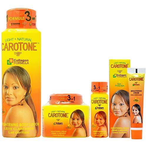 CaroTone Package II (Lotion 18.6oz + Cream 11.1oz + Oil 2.2oz + Cream (Tube) 1oz)