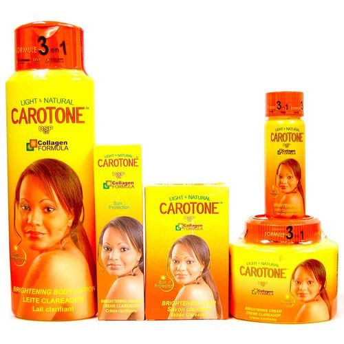 carotone Light & Natural Brightening- Lotion, Cream, BSC Cream, Oil, Soap SET (5-PACK)