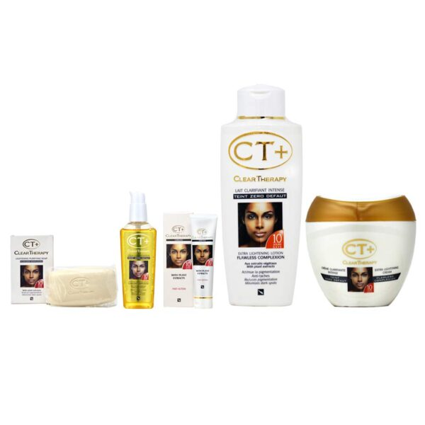 "Clear Therapy + Lightening Soap, Cream, Lotion, Serum and Tube Cream""Big"" Set"
