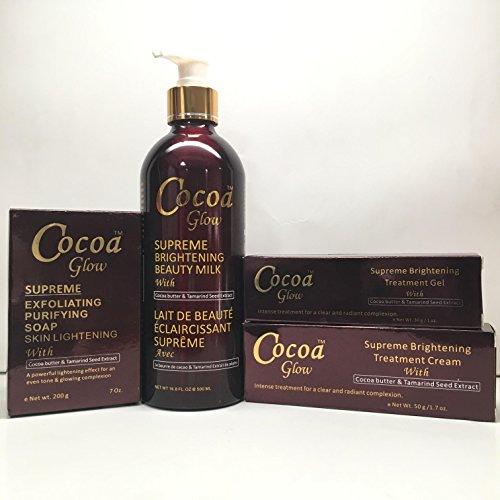 Cocoa Glow Set Milk Soap Cream Gel