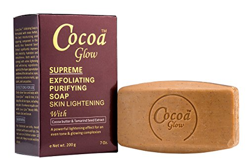 Buy Cocoa Glow Supreme Exfoliating Purifying Skin Lightening Soap with Cocoa Butter & Tamarind Seed Extract 7oz