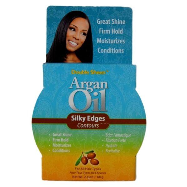 Buy Double Sheen: Argan Oil Silky Edges 2.4oz
