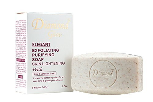 Buy Diamond Glow Extensive Exfoliating Purifying Skin Lightening Soap with Amla & Dandelion Extract 7oz
