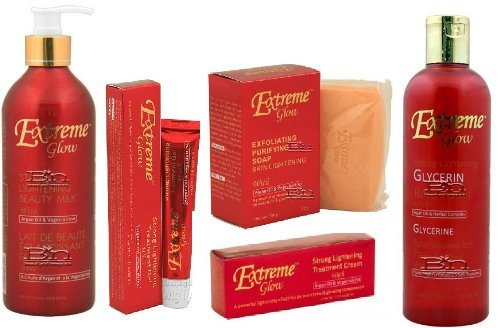 EXTREME GLOW Super Set (Creme, Gel, Soap, Beauty Milk, and Rose Water)