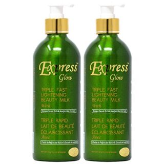 Buy Express Glow Triple Fast Lightening Beauty Milk Lotion 16.8oz (Pack of 2)
