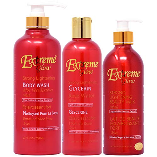 Extreme Glow Bottle Package-1 (Body Wash 27oz + Glycerine + Lotion 16.8oz)
