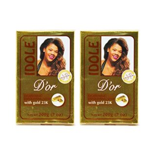 IDOLE D'or Lightening Exfoliating Soap with Gold 23K 200g/7oz (Pack of 2)