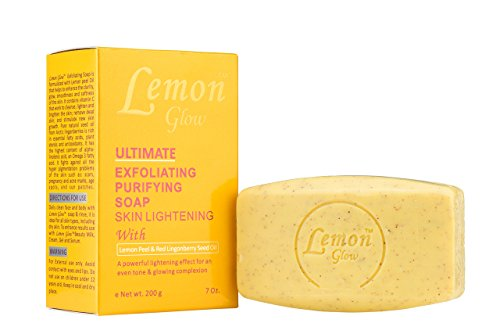 Lemon Glow Extensive Exfoliating Purifying Skin Lightening Soap