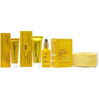 Lemon Glow Soap Combo-1 (Soap 7oz + Gel 1oz + Cream 1.7oz + Serum 1.66oz)