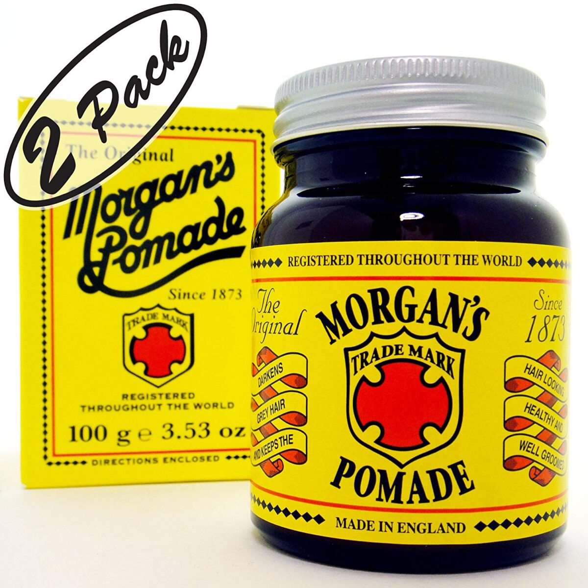 """MORGAN'S POMADE """"The Original"""" 3.53 oz (100 g) –With this great offer you get TWO (2) bottles of The Original MORGAN'S POMADE of 3.53 oz (100 g) EACH."""