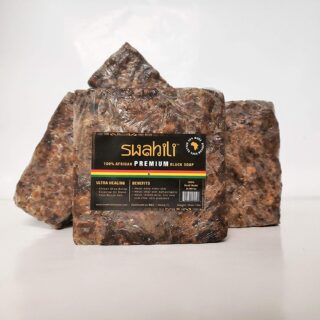 Raw Swahili African PREMIUM Black Soap