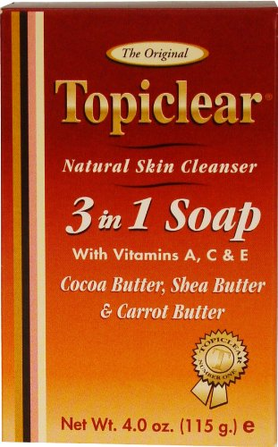 Topiclear Gold Natural Skin Cleanser 3 in 1 Soap