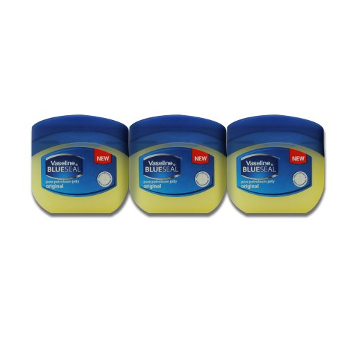 Vaseline BlueSeal Pure Petroleum Jelly 1.7oz (50ml) Jar (Pack of 3)